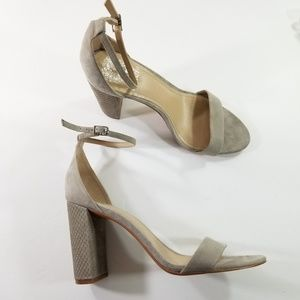 Vince Camuto size 9.5 leather strap heels
